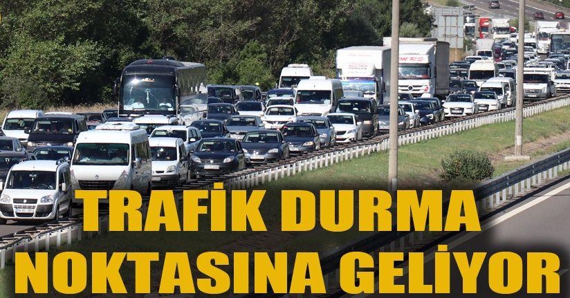 TEM Otoyolu'nda bayram trafiği yoğunluğu