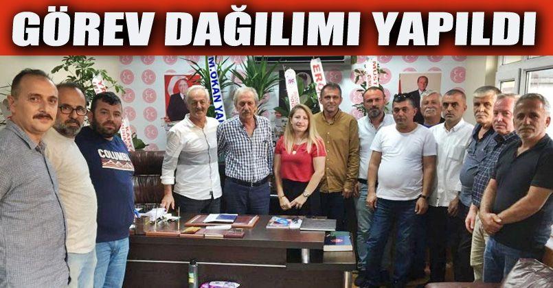 Akçakoca MHP'de Görev Dağılımı Yapıldı