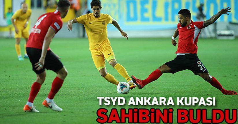 TSYD Ankara kupası Gençlerbirliği'nin oldu