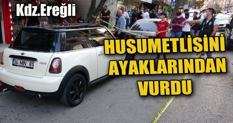 Ereğli'de bir kişi silahla yaralandı