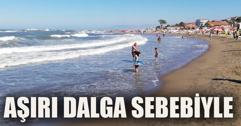 Sakarya'da denize girişe izin verilmiyor