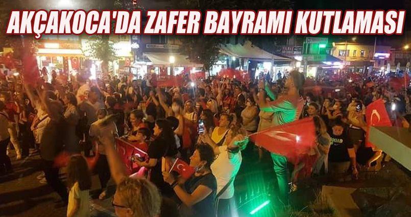 Akçakoca'da Zafer Bayramı Kutlaması