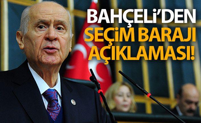 Devlet Bahçeli'den seçim barajı açıklaması!