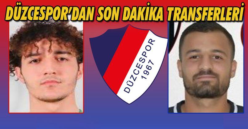 Düzcespor'dan Son Dakika Transferleri