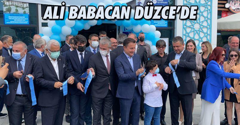 Ali Babacan Düzce'de