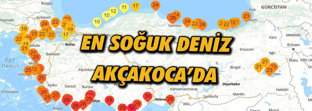 Türkiye'nin en soğuk deniz suyu Akçakoca'da ölçüldü