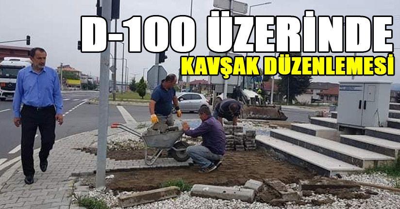 Kaynaşlı Belediyesi D-100'de peyzaj çalışmasına başladı