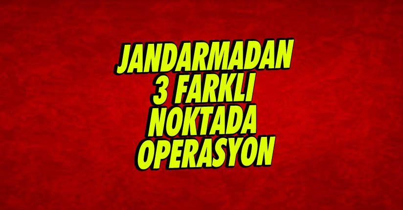 Düzce'de jandarmadan 3 farklı noktada uyuşturucu operasyonu: 3 gözaltı