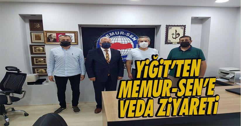 Yiğit'ten Memur-Sen'e veda ziyareti