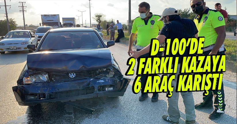 Zincirleme Kazada Yol Tıkanınca 3 Araç Daha Birbirine Girdi