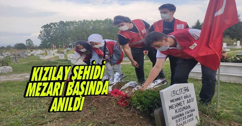 Kızılay şehidi mezarı başında anıldı