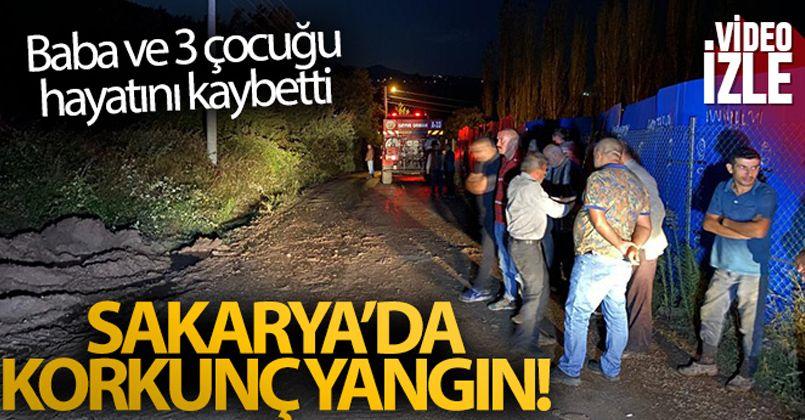 Misafirliğe gittikleri evde çıkan yangında baba ve üç çocuğu yaşamını yitirdi