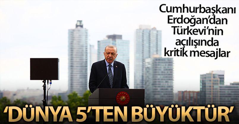 Cumhurbaşkanı Erdoğan, New York'un merkezindeki Türkevi'ni açtı