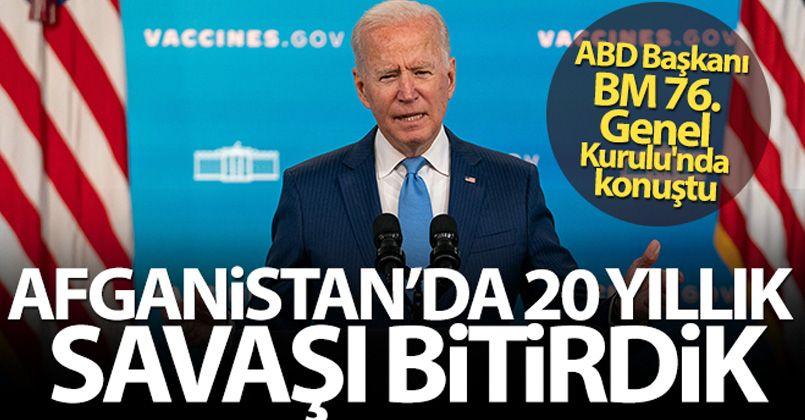 ABD Başkanı Joe Biden'dan Afganistan açıklaması!