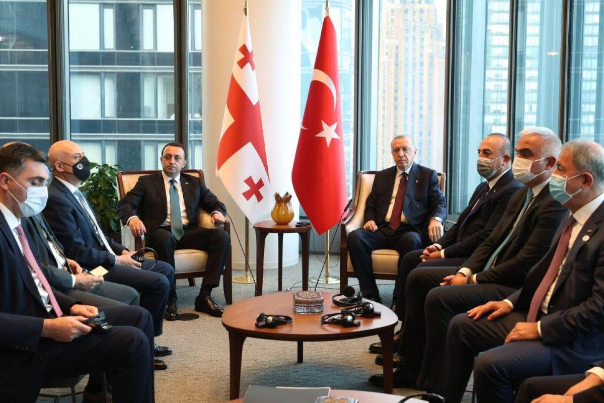 Cumhurbaşkanı Erdoğan, Gürcistan Başbakanını kabul etti