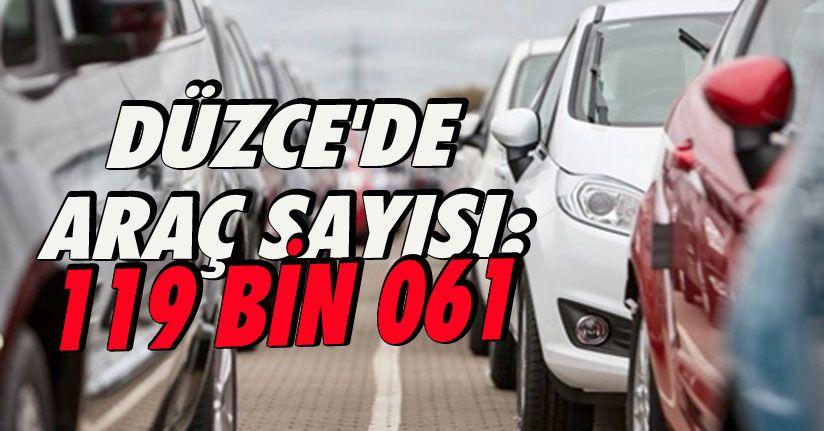 Düzce'de Araç Sayısı:119bin 061