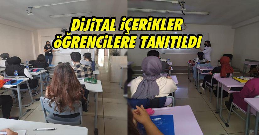 Dijital İçerikler Öğrencilere Tanıtıldı