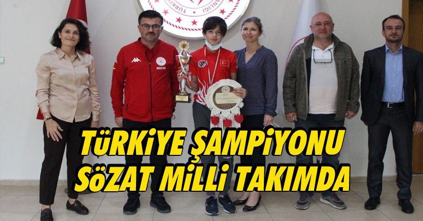 Türkiye Şampiyonu Sözat Milli Takımda