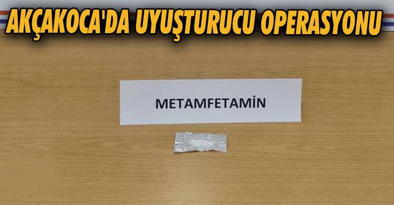Akçakoca'da Uyuşturucu Operasyonu