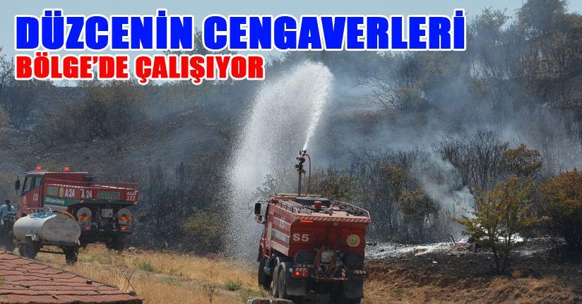 İzmir yangınına takviyeye gittiler