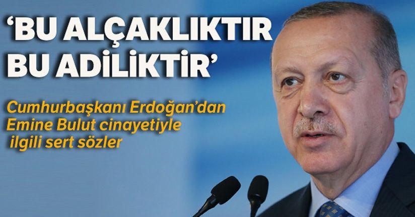 Cumhurbaşkanı Erdoğan: 'Emine Bulut hanımefendi ile ilgili olay yenilir yutulur bir olay değildir'