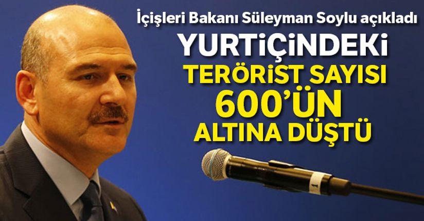 İçişleri Bakanı Süleyman Soylu: Yurtiçindeki terörist sayısı 600'ün altına düştü