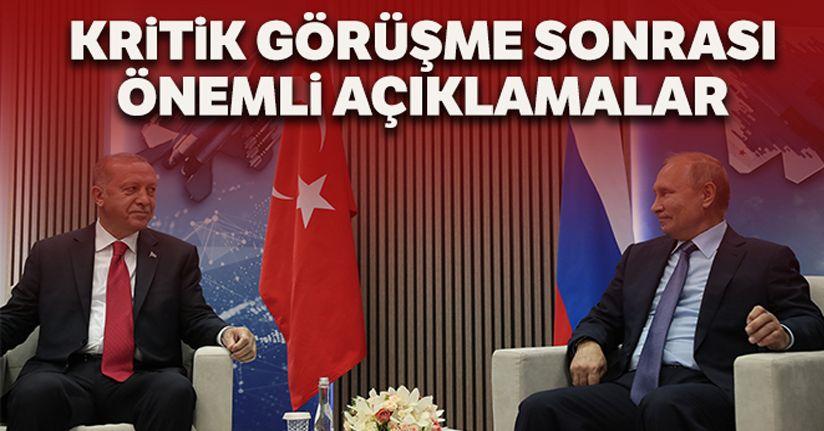 Cumhurbaşkanı Erdoğan ve Rusya Devlet Başkanı Putin'den önemli açıklamalar