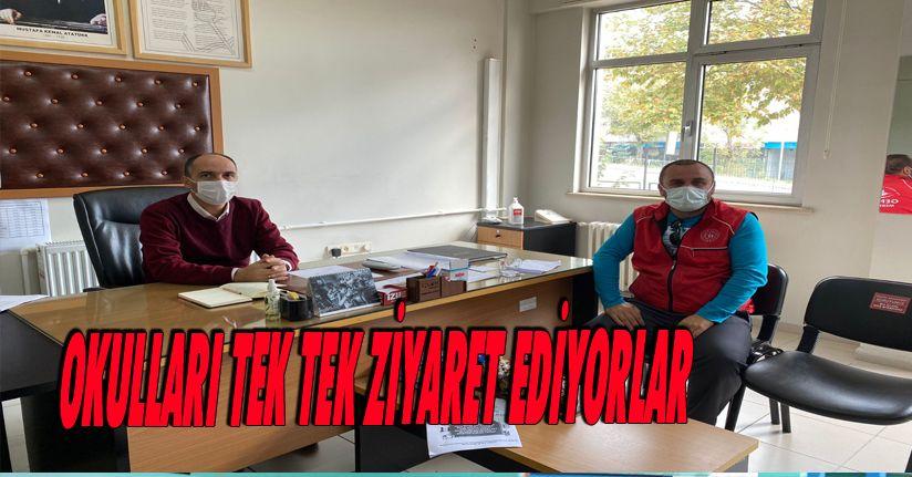 Okulları Tek Tek Ziyaret Ediyorlar