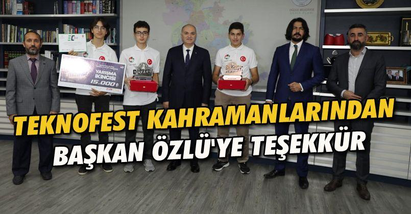 Teknofest Kahramanlarından Başkan Özlü'ye Teşekkür