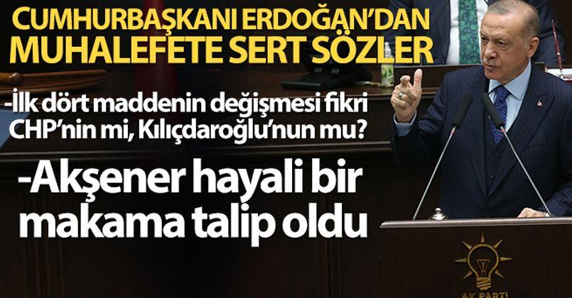 Cumhurbaşkanı Erdoğan: 'İlk dört maddenin değişmesi fikri CHP'nin mi, Kılıçdaroğlu'nun mu?'