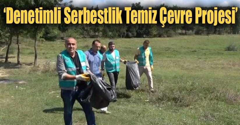 Hükümlüler Torbalar Dolusu Çöp Topladı