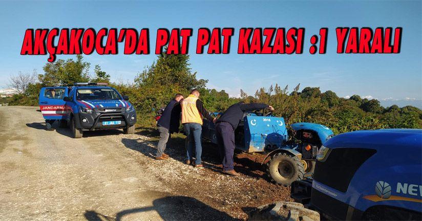 Akçakoca'da Pat Pat Kazası 1 Yaralı