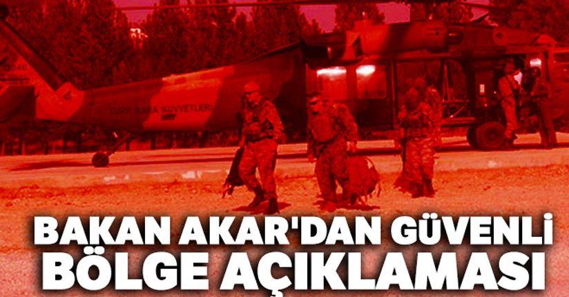 Bakan Akar: 'Dün iki Türk, iki Amerikan helikopteri havadan keşif ve denetleme yaptı'