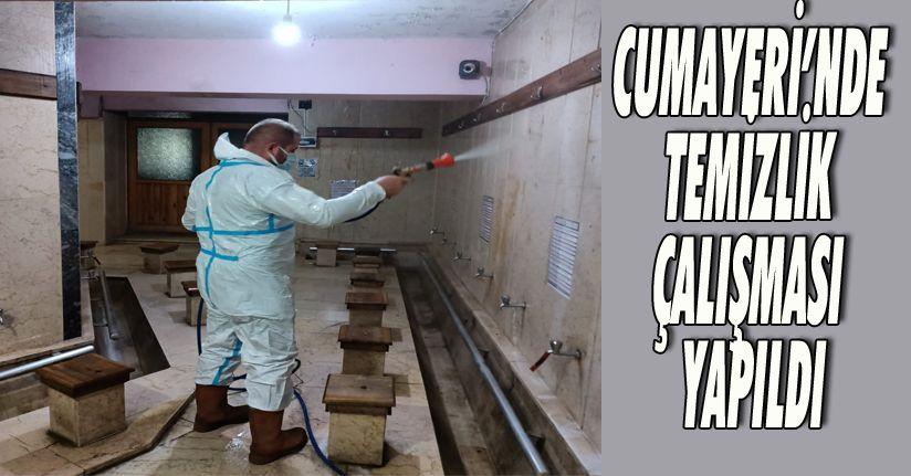 Cumayeri'nde Temizlik Çalışması Yapıldı