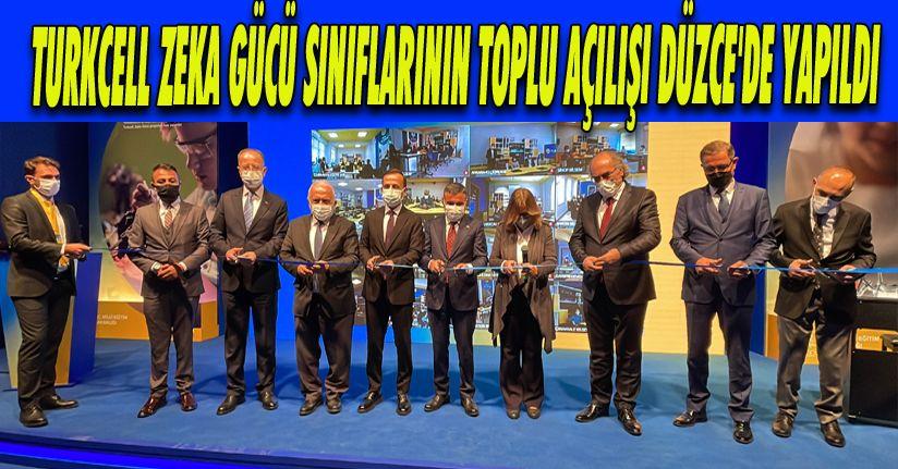 Turkcell Zeka Gücü Sınıflarının Toplu Açılışı Düzce'de Yapıldı