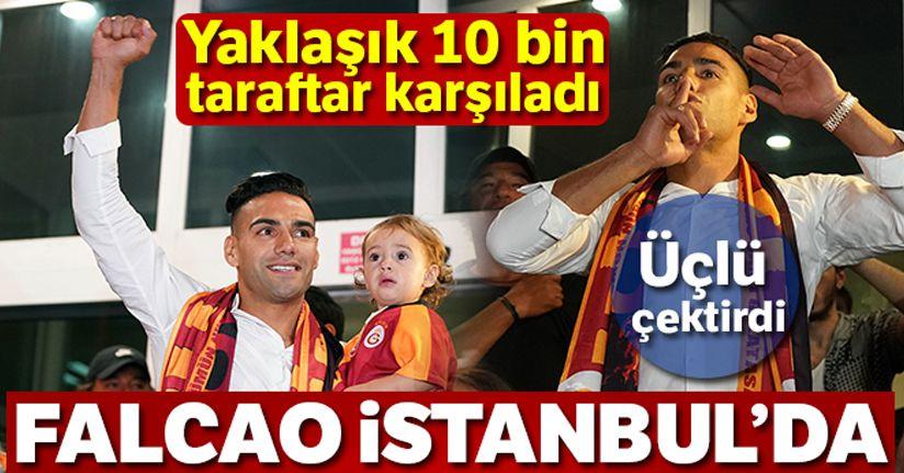 Falcao İstanbul'a geldi
