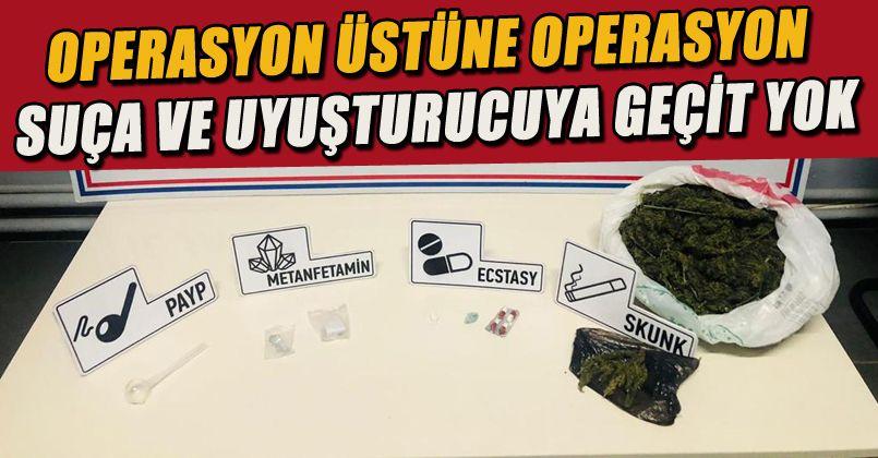Jandarmadan Peş Peşe Uyuşturucu Operasyonları