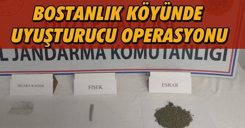 Bostanlık Köyünde Uyuşturucu Operasyonu