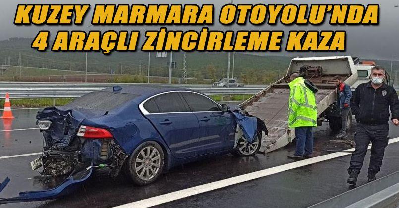 Kuzey Marmara Otoyolu'nda 4 araçlı zincirleme kaza: 1 yaralı