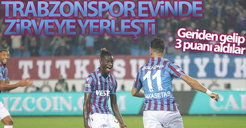 Trabzonspor evinde liderliği aldı
