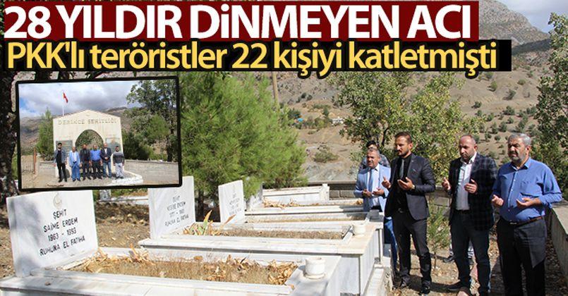 Siirt'te PKK'lı teröristlerin katlettiği 22 kişinin acısı dinmiyor