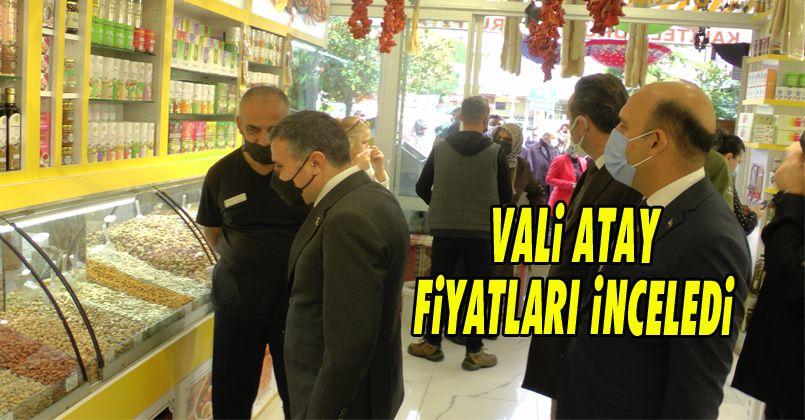 Valisi Atay, Alışveriş Yaparak Pazar Fiyatlarını İnceledi