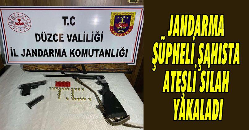 Jandarma Şüpheli Şahısta Ateşli Silah Yakaladı