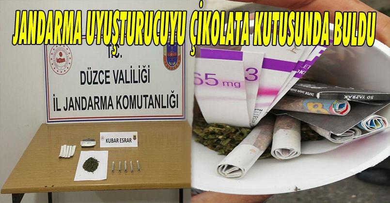 Jandarma Uyuşturucuyu Çikolata Kutusunda Buldu