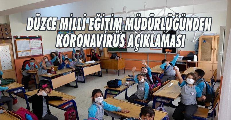 Düzce Milli Eğitim Müdürlüğünden Koronavirüs Açıklaması