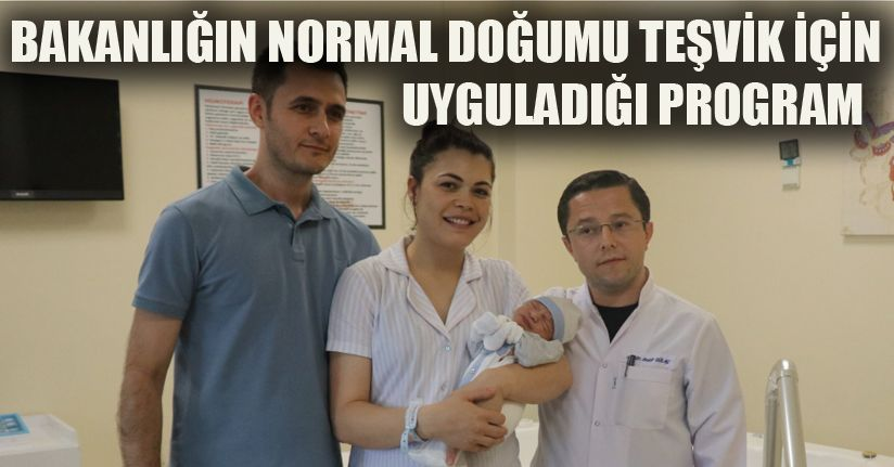 Suda doğum yöntemiyle ilk bebek dünyaya geldi