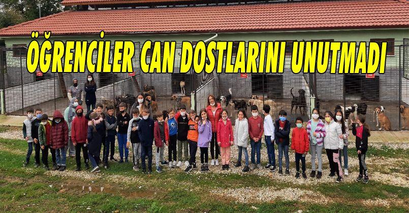 Mehmet Akif Ersoy Ilkokulu Öğrencileri Can Dostlarini Unutmadi
