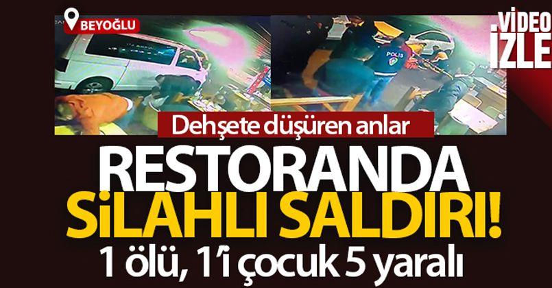 Beyoğlu'nda restorandaki silahlı saldırı kamerada