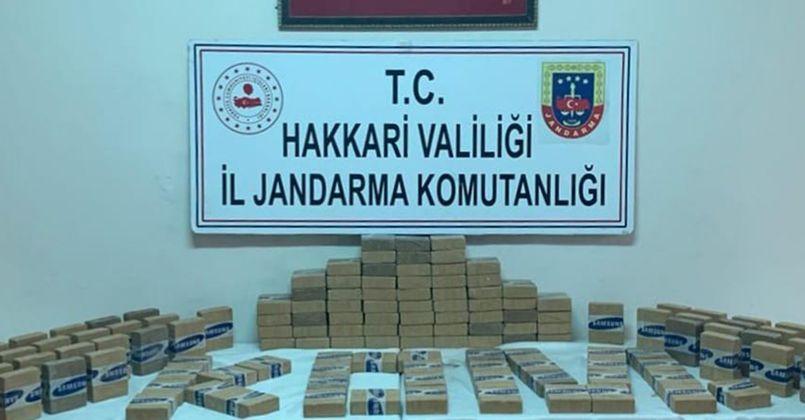 Yüksekova'da 70 kilo eroin ele geçirildi