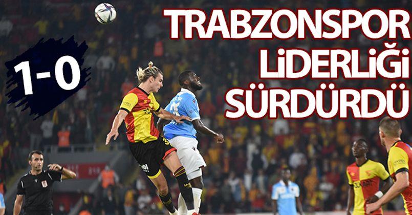 Trabzonspor liderliği sürdürdü